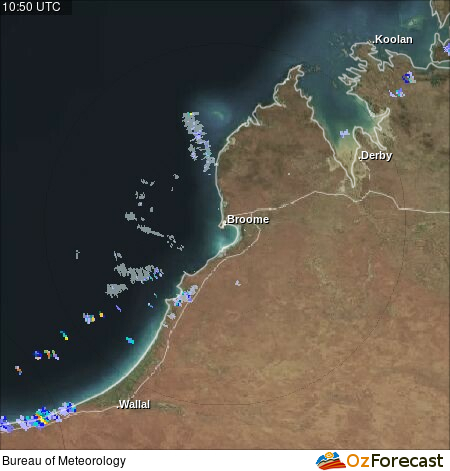 Oz Forecast Broome Weather Radar Tides And Weather Stations