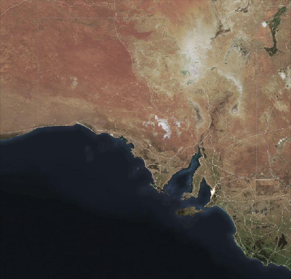 Australia Map Satellite.Oz Forecast South Australia Weather Radar Satellite And Lightning